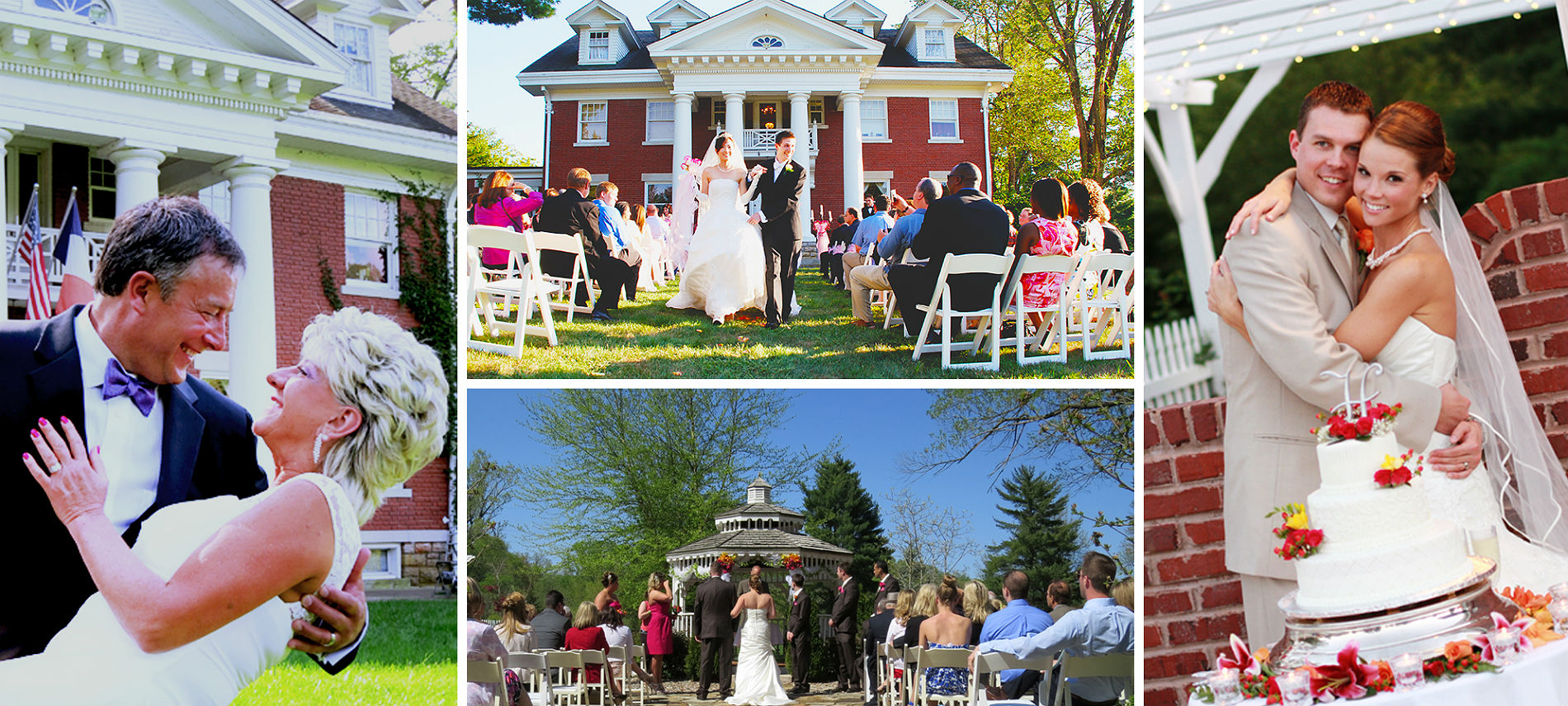 Montage of various wedding scenes